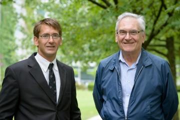James Olson with award recipient, Dr. Richard Kerekes